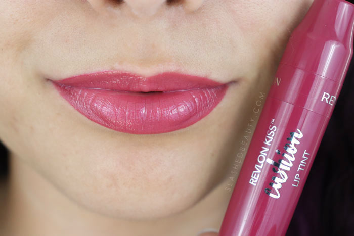 Revlon Kiss Cushion Lip Tints Review and Lip Swatches - Naughty Mauve | Slashed Beauty
