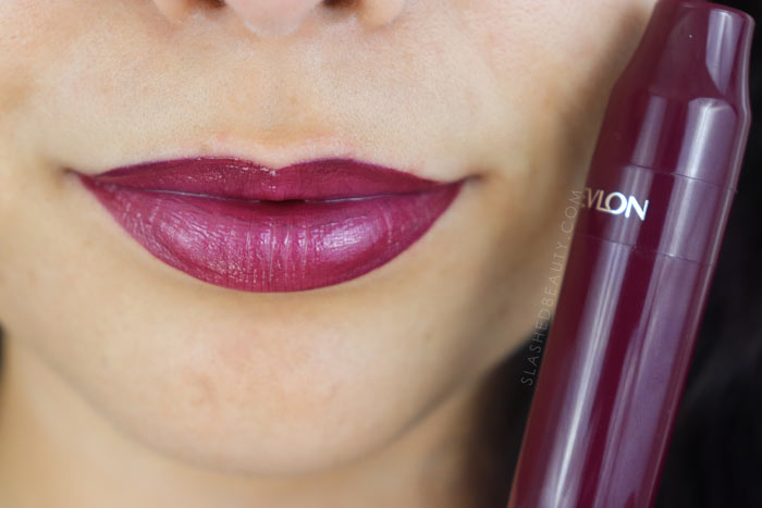 Revlon Kiss Cushion Lip Tints Review and Lip Swatches - Extra Violet | Slashed Beauty