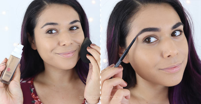 Try this 5 minute fall makeup look tutorial for a fast and easy look. | Slashed Beauty