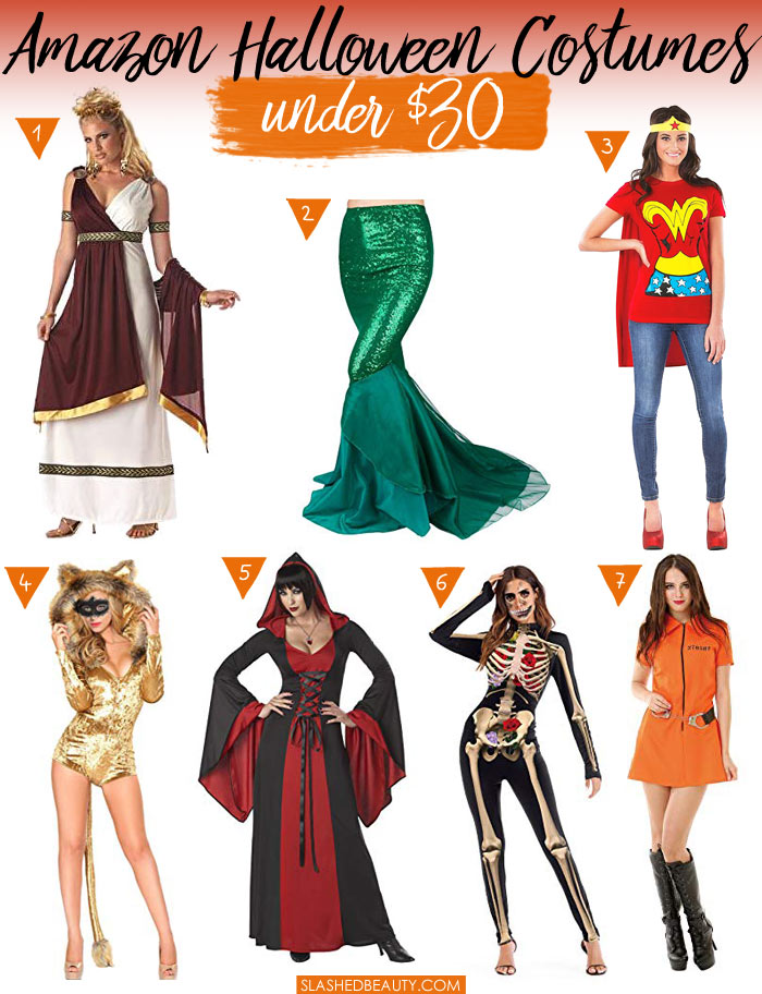 Find Halloween Costumes Under $30 on Amazon Prime! Budget-friendly Halloween costumes. | Slashed Beauty