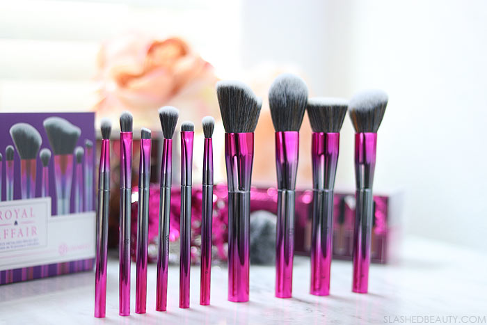 BH Cosmetics Royal Affair 10 Piece Metalized Brush Set: BH Cosmetics Royal Affair Collection for 2018 Holidays | Slashed Beauty