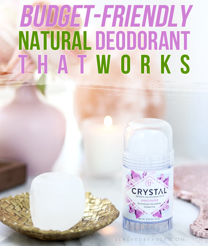 Crystal Mineral Deodorant Stone Review | Natural Deodorant that Works | Deodorant that lasts a year | Slashed Beauty