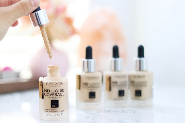 See a Before and After Review of the Catrice HD Liquid Coverage Foundation: Full Coverage and Lightweight Drugstore Foundation | Slashed Beauty