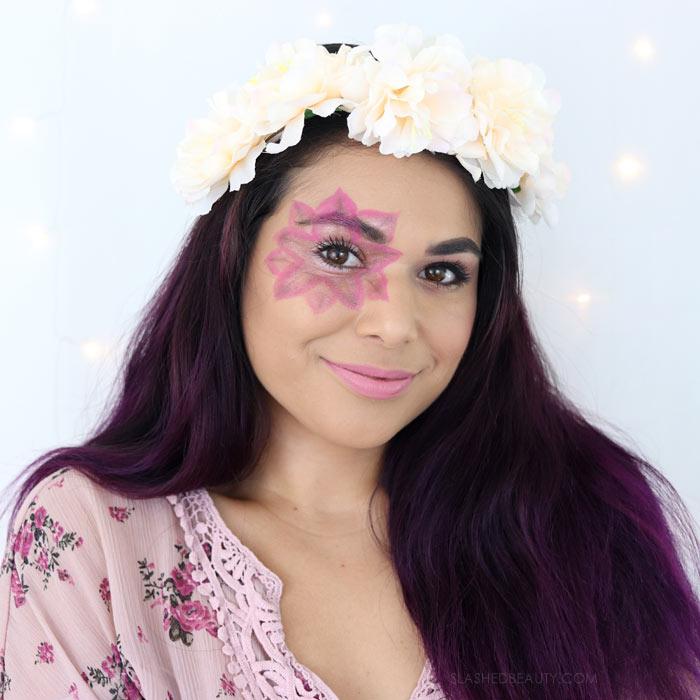 Last Minute Halloween Makeup & Costume: Flower Child Tutorial   Slashed Beauty