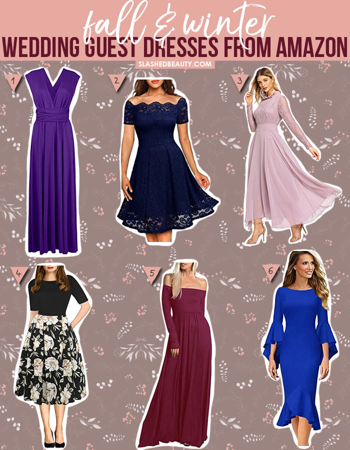6 Winter Wedding Guest Dresses from Amazon Under $40