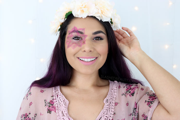 Last Minute Halloween Makeup & Costume: Flower Child Tutorial | Slashed Beauty