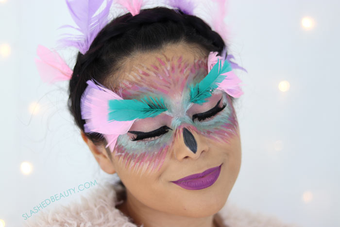 Easy Fantasy Owl Halloween Makeup Tutorial with Drugstore Makeup | Slashed Beauty
