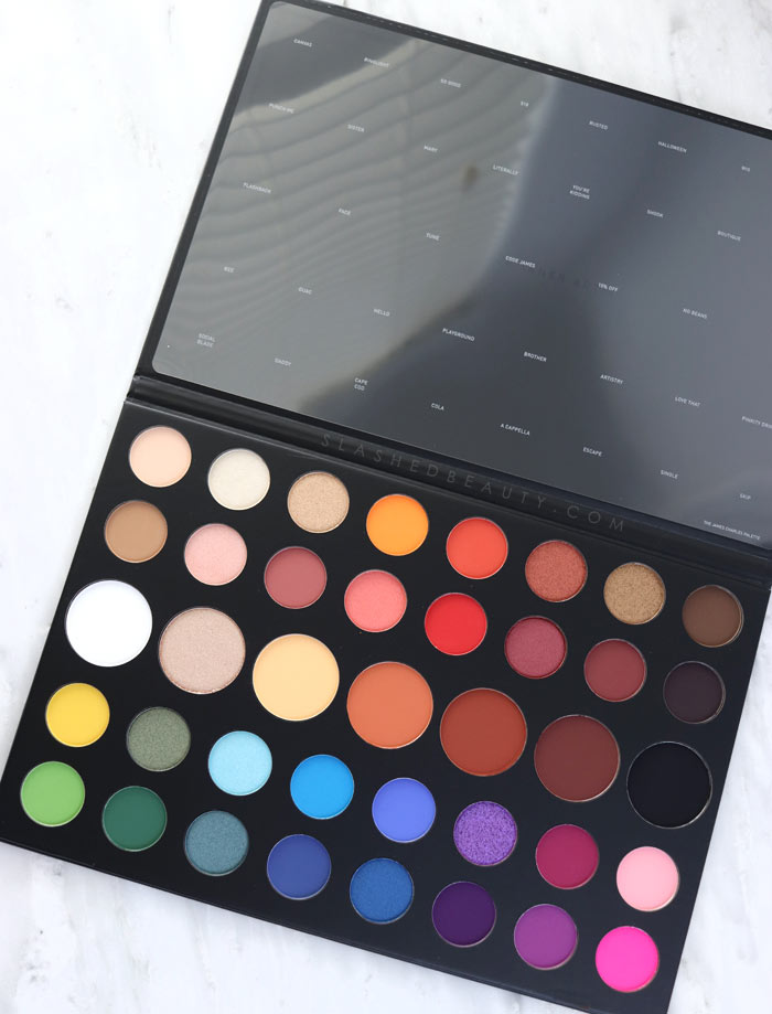 Morphe x James Charles Palette Review. Eye safe? How to apply, and three looks to create!   Slashed Beauty