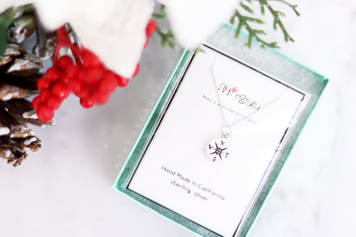 Shop for unique & handmade personalized gifts for the holidays at Amazon Handmade! Handmade Gift Guide -- For Her: Silver Compass Necklace | Slashed Beauty