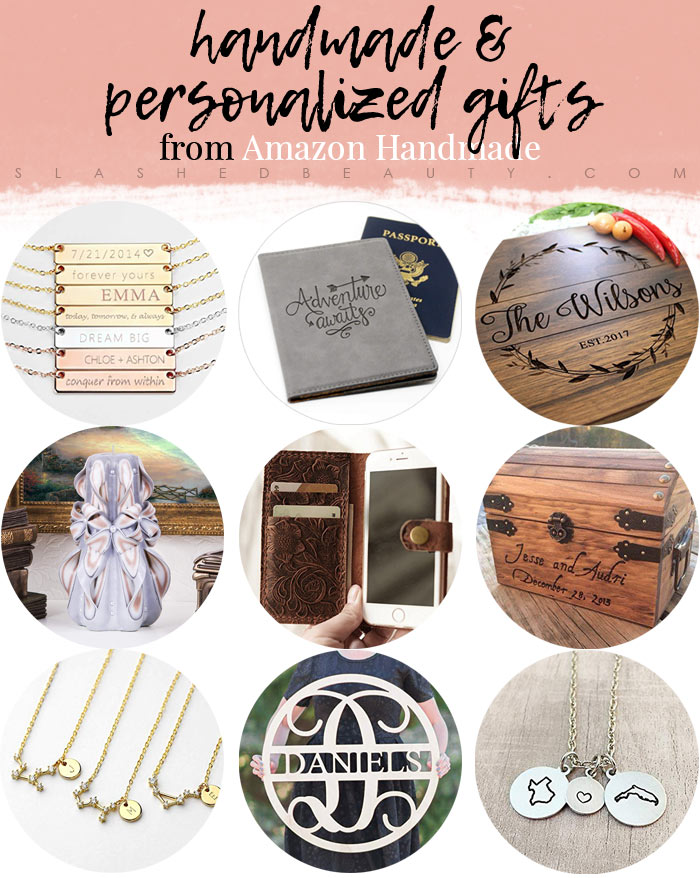 Shop for unique & handmade personalized gifts for the holidays at Amazon Handmade! Handmade Gift Guide | Slashed Beauty
