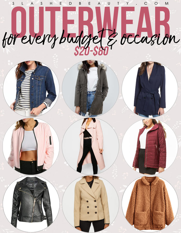 9 Outerwear Picks for All Budgets & Occasions | Jackets & Coats $20-$80 | Slashed Beauty