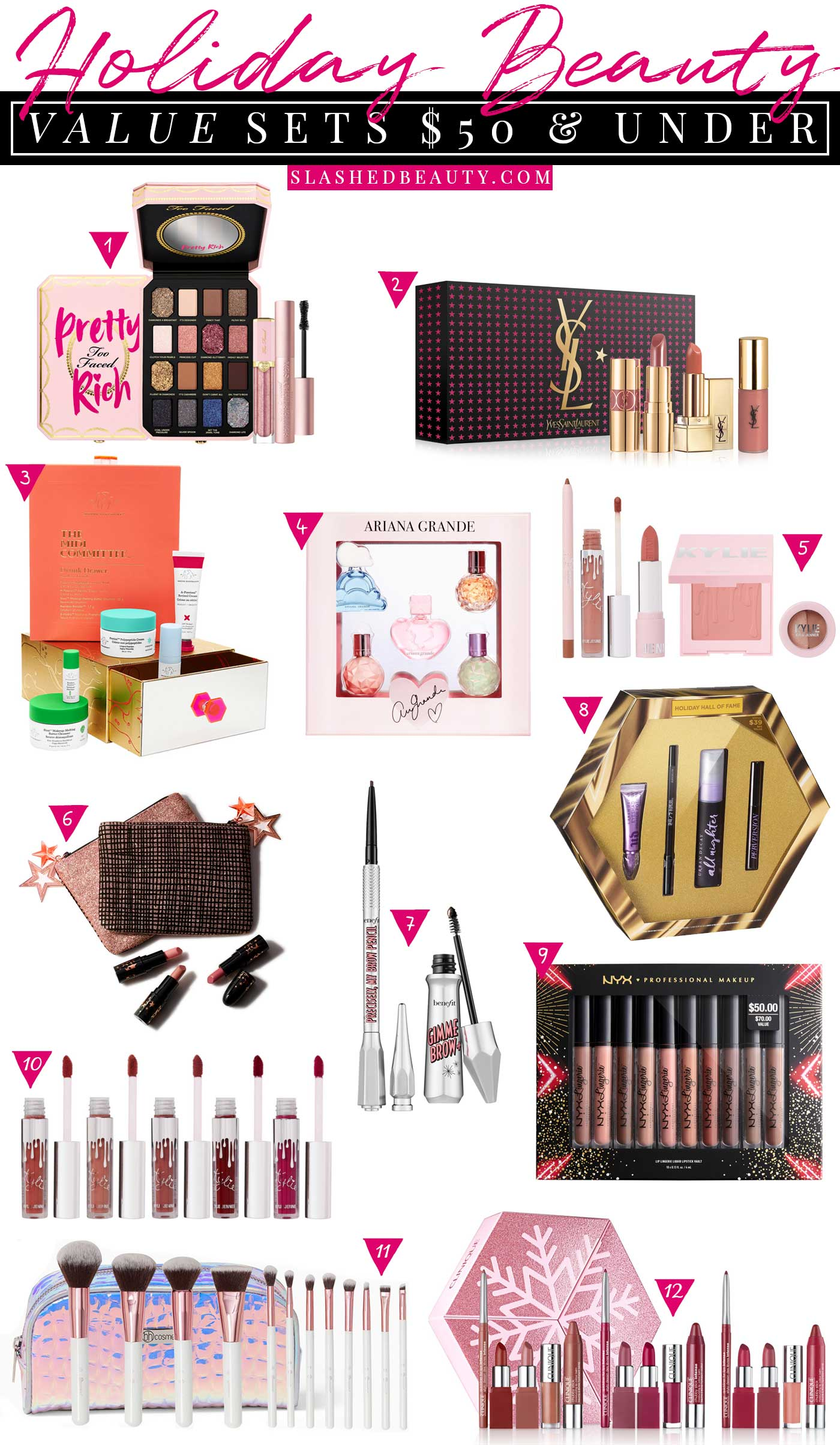 The Best Holiday Beauty Value Sets $50 & Under | Beauty Gift Ideas | Slashed Beauty