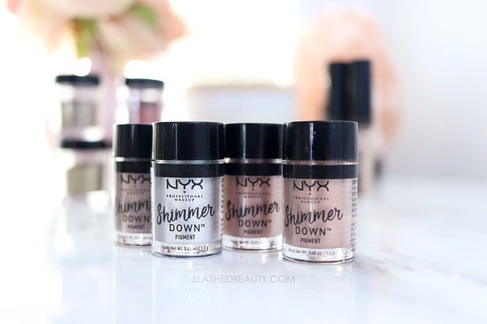 Glitter Makeup That's Easy to Take Off: NYX Shimmer Down Pigment | Slashed Beauty