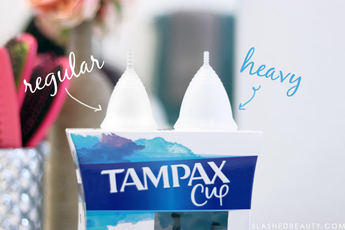 Tampax Cup Size Comparison | Beginner's Menstrual Cup FAQ: How to Use Menstrual Cups, Menstrual Cup Folds & Tips | Slashed Beauty
