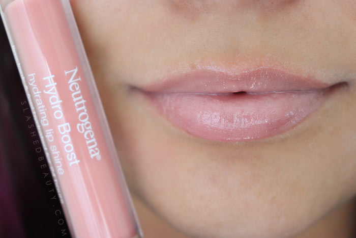 Best Lip Color for Dry Lips: Neutrogena Hydro Boost Hydrating Lip Shines BALLET PINK Review & Swatches   Slashed Beauty