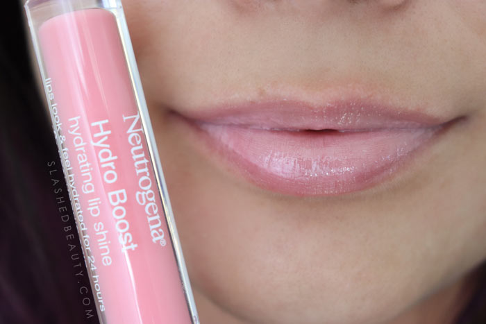 Best Lip Color for Dry Lips: Neutrogena Hydro Boost Hydrating Lip Shines PINK SORBET Review & Swatches   Slashed Beauty