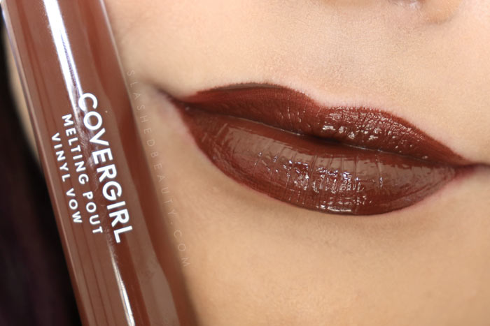 Covergirl Melting Pout Vinyl Vow Lipgloss Review and Lip Swatches : Hustle | Slashed Beauty