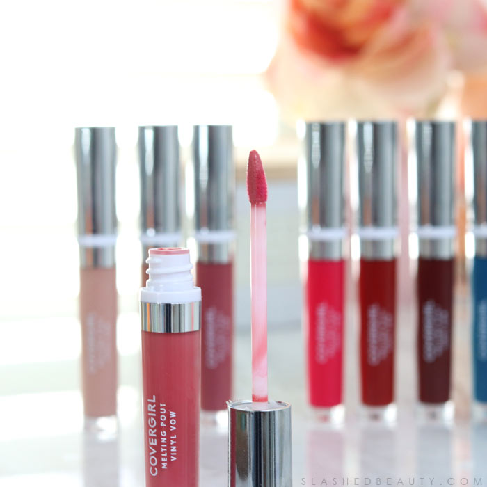 Covergirl Melting Pout Vinyl Vow Lipgloss Review and Lip Swatches | Slashed Beauty