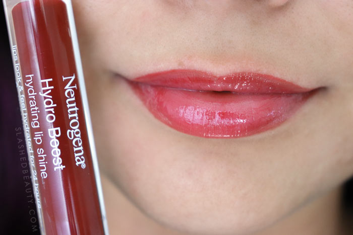 Best Lip Color for Dry Lips: Neutrogena Hydro Boost Hydrating Lip Shines DEEP CHERRY Review & Swatches | Slashed Beauty