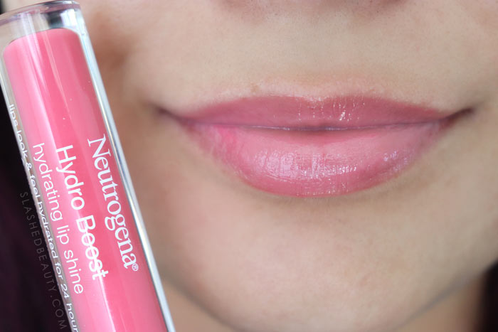 Best Lip Color for Dry Lips: Neutrogena Hydro Boost Hydrating Lip Shines FLUSHED CORAL Review & Swatches | Slashed Beauty