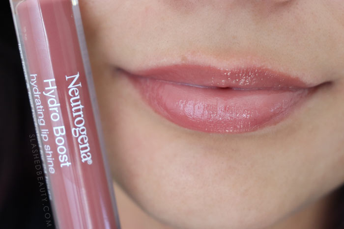 Best Lip Color for Dry Lips: Neutrogena Hydro Boost Hydrating Lip Shines PINK MOCHA Review & Swatches | Slashed Beauty