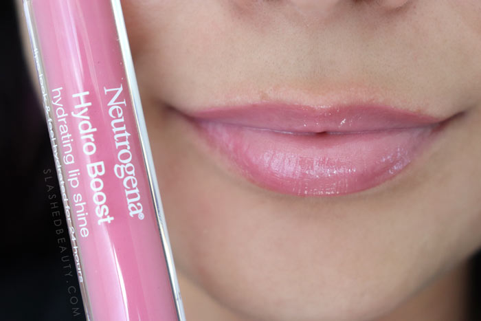 Best Lip Color for Dry Lips: Neutrogena Hydro Boost Hydrating Lip Shines RADIANT ROSE Review & Swatches | Slashed Beauty