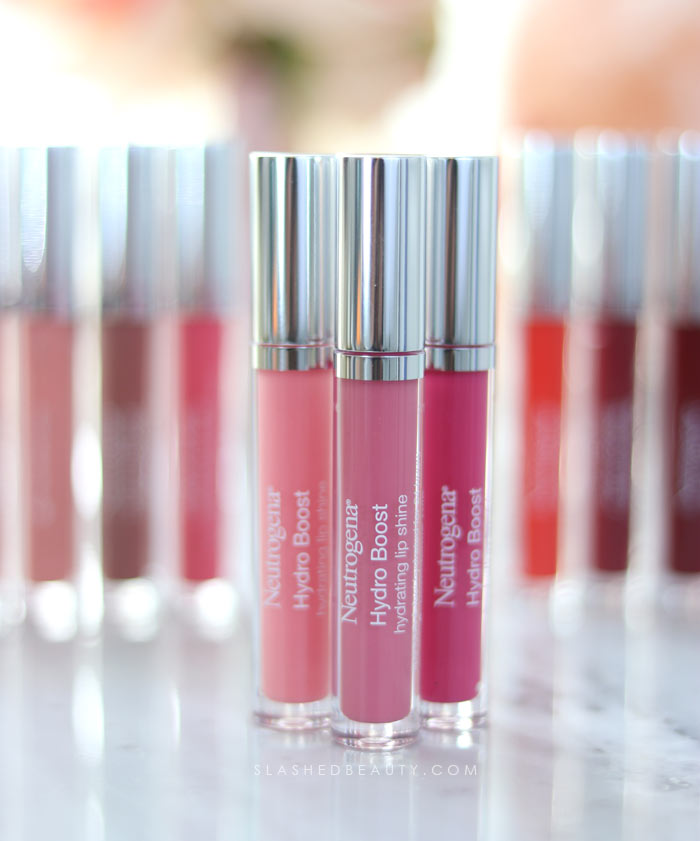 Best Lip Color for Dry Lips: Neutrogena Hydro Boost Hydrating Lip Shines Review & Swatches   Slashed Beauty