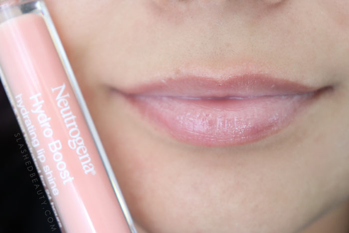 Best Lip Color for Dry Lips: Neutrogena Hydro Boost Hydrating Lip Shines SOFT BLUSH Review & Swatches   Slashed Beauty