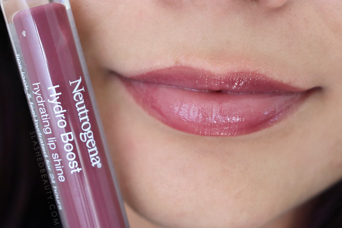 Best Lip Color for Dry Lips: Neutrogena Hydro Boost Hydrating Lip Shines SOFT MULBERRY Review & Swatches   Slashed Beauty