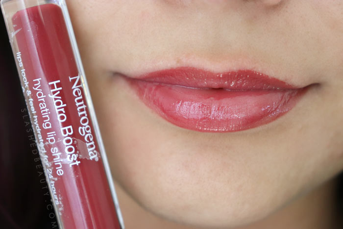 Best Lip Color for Dry Lips: Neutrogena Hydro Boost Hydrating Lip Shines VELVET WINE Review & Swatches   Slashed Beauty