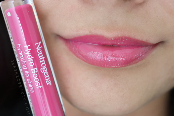 Best Lip Color for Dry Lips: Neutrogena Hydro Boost Hydrating Lip Shines RADIANT RASPBERRY Review & Swatches   Slashed Beauty