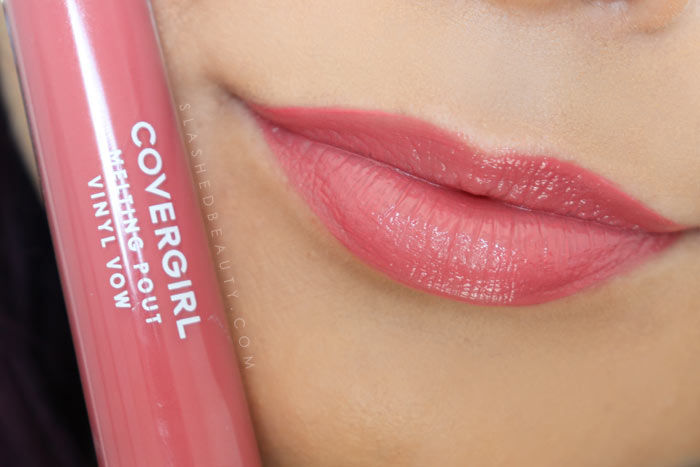 Covergirl Melting Pout Vinyl Vow Lipgloss Review and Lip Swatches : Caught Up | Slashed Beauty