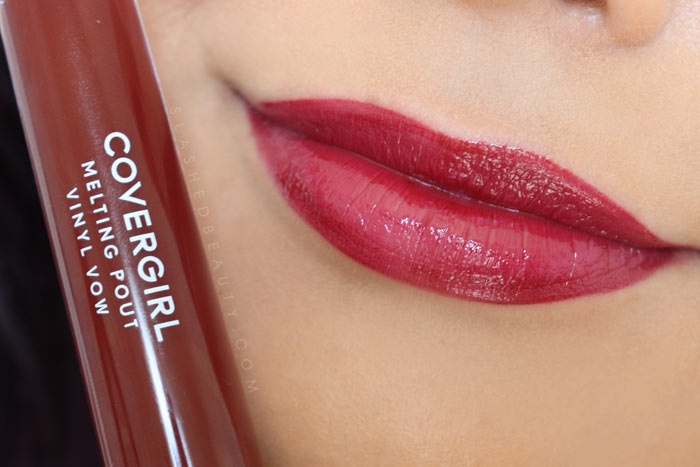 Covergirl Melting Pout Vinyl Vow Lipgloss Review and Lip Swatches : Get Into It | Slashed Beauty