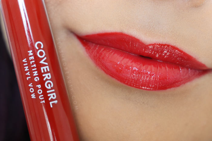 Covergirl Melting Pout Vinyl Vow Lipgloss Review and Lip Swatches : Keep It Going | Slashed Beauty