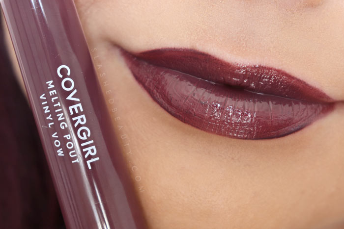 Covergirl Melting Pout Vinyl Vow Lipgloss Review and Lip Swatches : Own It | Slashed Beauty