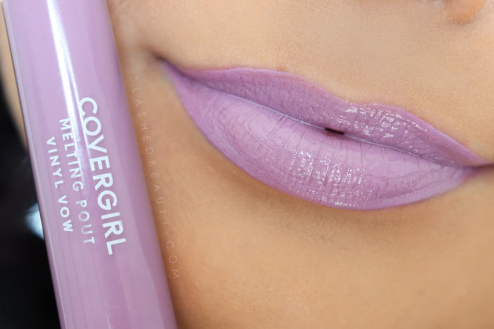 Covergirl Melting Pout Vinyl Vow Lipgloss Review and Lip Swatches : So Lucky | Slashed Beauty