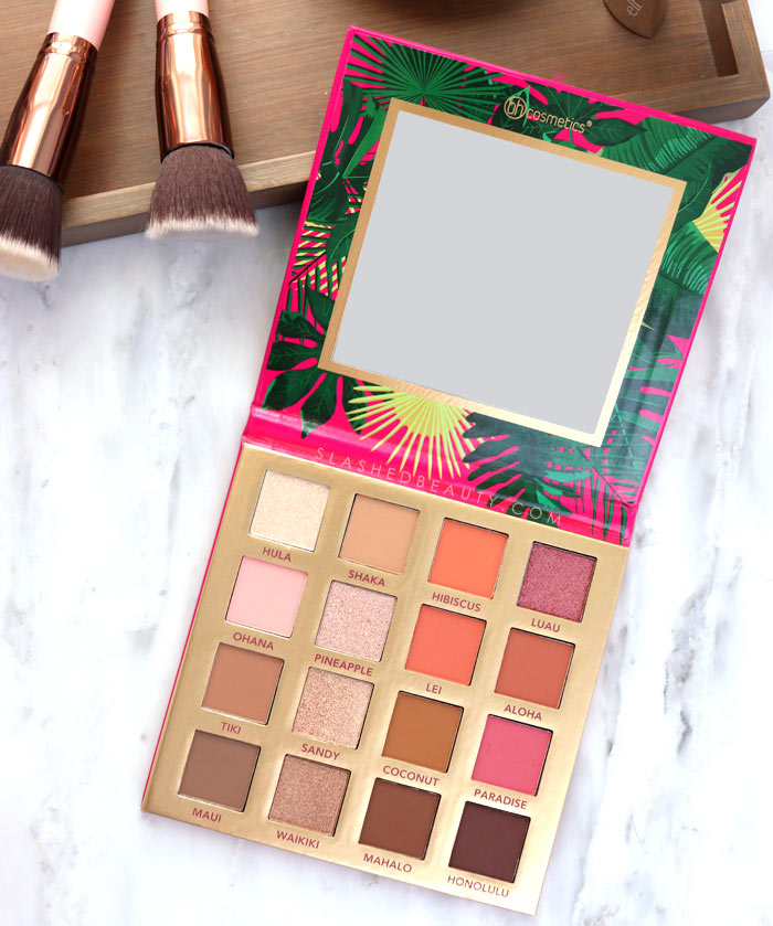 Coral Summer Eyeshadow Palette | BH Cosmetics Hangin' in Hawaii Palette Review & Swatches | Slashed Beauty