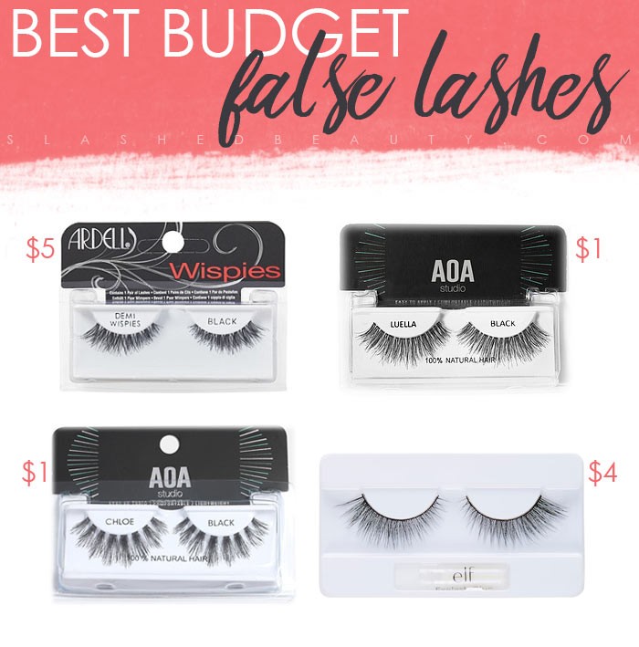 Best Budget Fake Lashes $5 and Under | Slashed Beauty