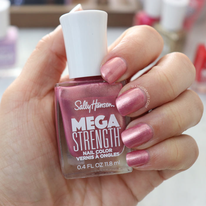 REVIEW & SWATCHES: Sally Hansen Mega Strength Nail Colors - Rise Up | Slashed Beauty