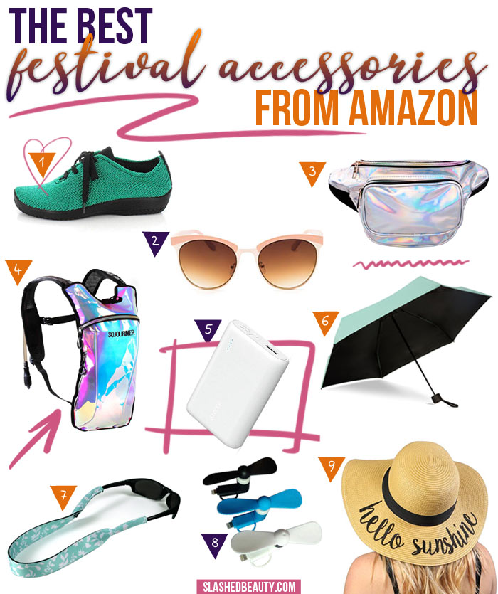 9 of the Best Music Festival Accessories from Amazon | Slashed Beauty