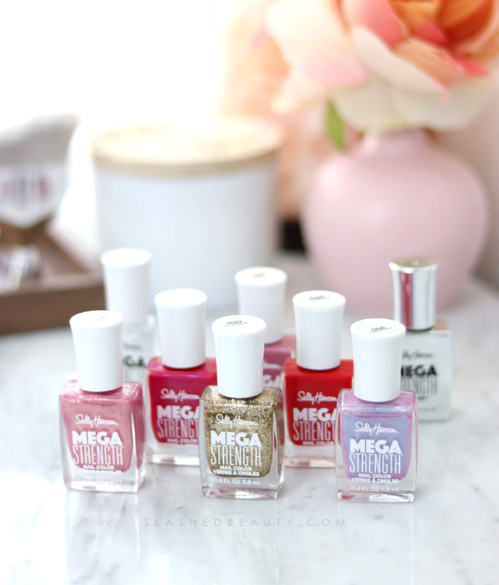 REVIEW & SWATCHES: Sally Hansen Mega Strength Nail Colors | Slashed Beauty