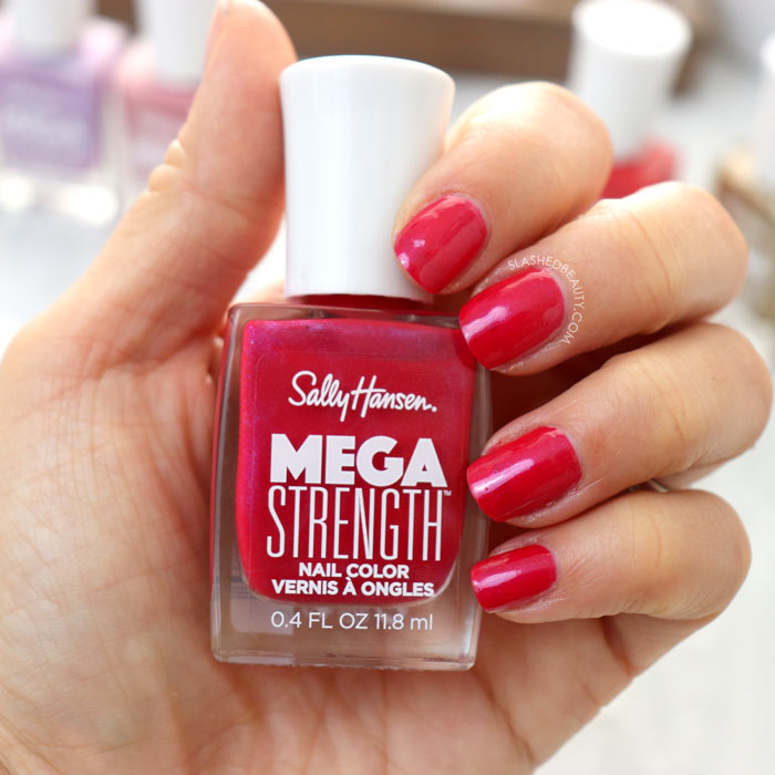 REVIEW & SWATCHES: Sally Hansen Mega Strength Nail Colors - Slay All Day | Slashed Beauty
