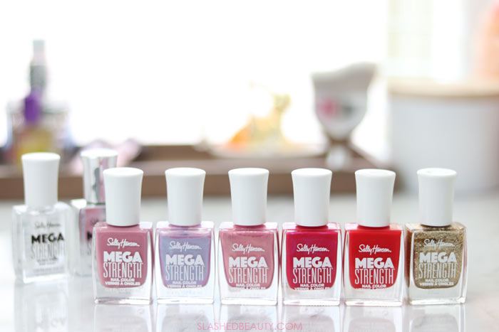 SWATCHES: Sally Hansen Mega Strength Nail Color Review