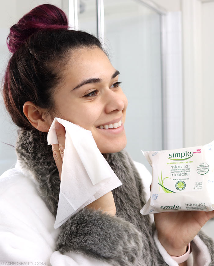 Why Does My Skin Break Out When I Travel? Best Makeup Wipes for Travel from Simple Skincare | Slashed Beauty