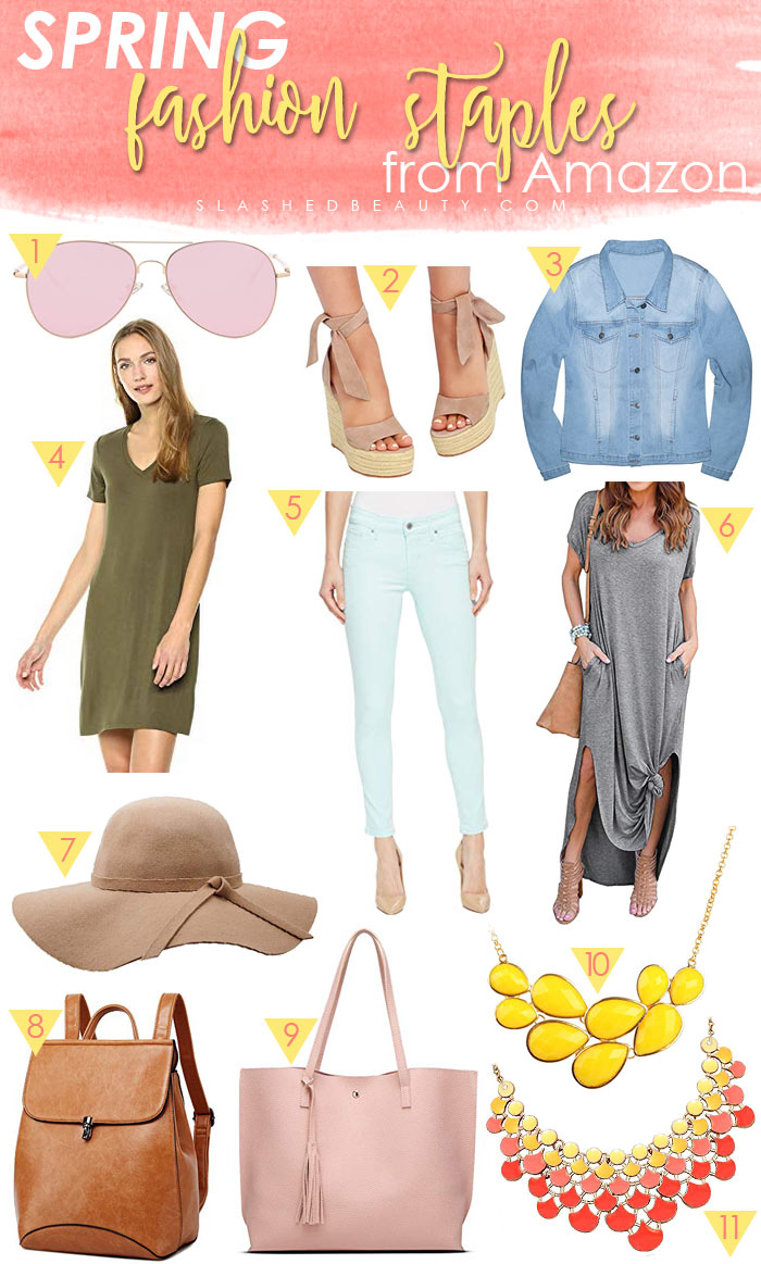 Spring Fashion Staples from Amazon Under $40 | Spring Outfit Ideas | Slashed Beauty