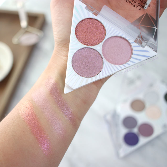 wet n wild Crystal Cavern Eyeshadow Trios Swatches & Review: Rose Quartz   Slashed Beauty