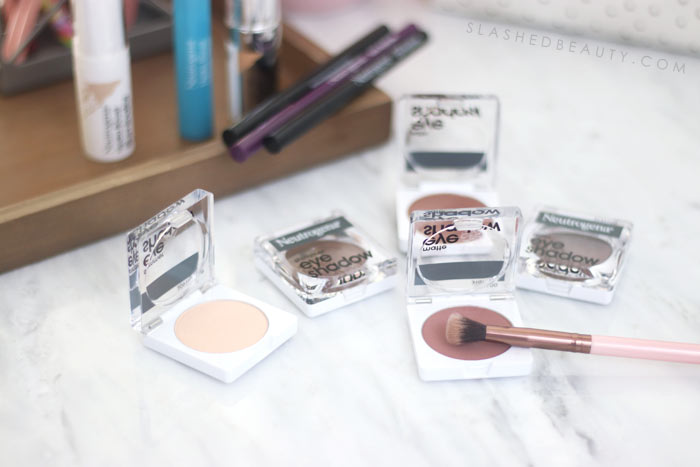 New Drugstore Makeup from Neutrogena: Vitamin E Eyeshadow Singles Review & Swatches | Slashed Beauty