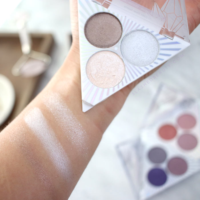wet n wild Crystal Cavern Eyeshadow Trios Swatches & Review: Clear Quartz   Slashed Beauty