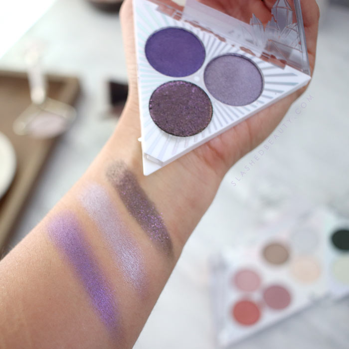 wet n wild Crystal Cavern Eyeshadow Trios Swatches & Review: Amethyst | Slashed Beauty