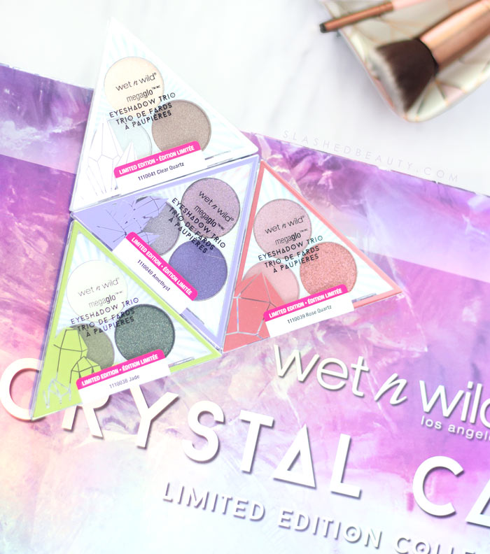 wet n wild Crystal Cavern Eyeshadow Trios Swatches & Review | Slashed Beauty